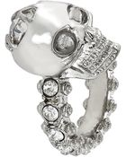 Alexander McQueen Jewelled Skull Ring - Lyst