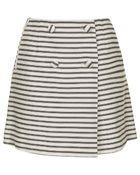 Topshop Tall Striped Button Wrap Skirt - Lyst