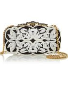 Oscar de la Renta Crown Goa Embellished Satin Box Clutch - Lyst