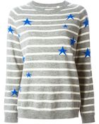 Chinti & Parker Star-Intarsia Striped Sweater - Lyst