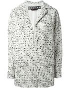 Rochas Bouclé Wool and Cotton-Blend Coat - Lyst