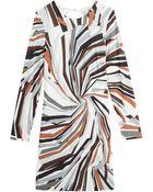 Emilio Pucci Silk Jersey Printed Mini-Dress - Lyst