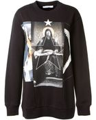 Givenchy Long Cotton Printed Sweatshirt - Lyst
