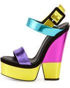 Giuseppe Zanotti Metallic Leather High-Heel Sandal - Lyst