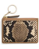 Coach Madison Mini Skinny In Python Print Fabric - Lyst