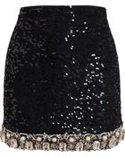 Ashish Embellished Mini Skirt - Lyst