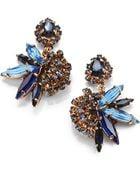 Erickson Beamon Swarvoski Crystal Envy Cluster Earrings - Lyst