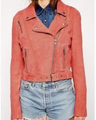 Muubaa Orinoco Cropped Leather Jacket - Lyst