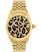 Betsey Johnson Women'S Gold-Tone Stainless Steel Bracelet Watch 41Mm Bj00428-02 - Lyst