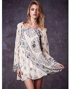 Free People Womens My Beloved Georgette Dress - Lyst