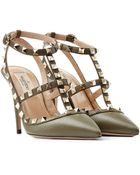 Valentino Ankle Strap Rockstud Leather Pumps - Lyst