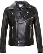Filles A Papa Leather Jacket With Eyelets - Lyst