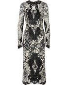 Dolce & Gabbana Floral-Lace Midi Dress - Lyst