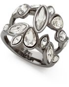 Alexis Bittar Moonlight Marquis Cluster Ring - Clear/Ruthenium - Lyst