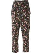 Equipment Floral Print Cropped Trousers - Lyst