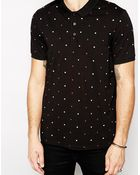 Asos Polo Shirt With Polka Dot Print - Lyst