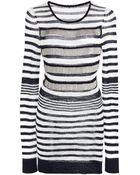 Sonia Rykiel Voile Knit Metal Mesh Sweater - Lyst
