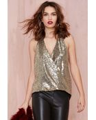 Nasty Gal Deep Trouble Sequin Top - Lyst