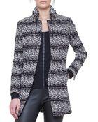 Akris Punto Jersey Tweed Drawstring-collar Jacket - Lyst