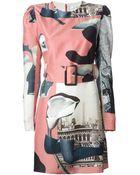 Carven 'Daba' Belted Shift Dress - Lyst