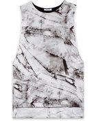 Helmut Lang Terrene Print Jersey Cutout Top - Lyst