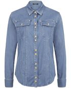 Balmain Denim Shirt - Lyst