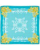Versace Silk Check-Print Square Scarf - Lyst