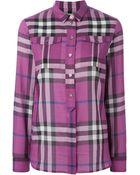 Burberry Brit 'Nova' Check Print Shirt - Lyst