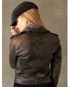 Ralph Lauren Leather Motorcycle Jacket - Lyst