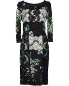 Dolce & Gabbana Knee Length Dress - Lyst