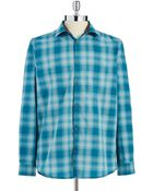 Calvin Klein Jeans Ombre Plaid Button-Down - Lyst