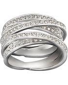 Swarovski Spiral Crystal Ring - Lyst