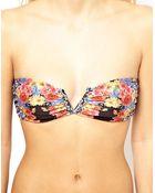 MINKPINK Floral V Bandeau Bikini Top - Lyst