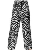 Just Cavalli Zebra Printed Silk Satin Trousers - Lyst