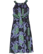 Versace Kneelength Dress - Lyst