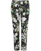 Dolce & Gabbana Printed Cropped Trousers - Lyst