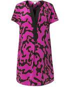 Diane von Furstenberg Firebird-Print Dress - Lyst