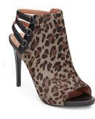 Vince Camuto Fenette 2 Leopard Printed Calf-Hair Sandals - Lyst