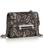Diane von Furstenberg 440 Micro Mini Leather, Lace And Crepe Shoulder Bag - Lyst