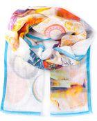 Etro Food Table Print Scarf - Lyst