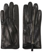 Mario Portolano Zipped Nappa Leather Gloves - Lyst