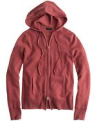 J.Crew Collection Cashmere Zip-Front Hoodie - Lyst