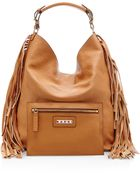 Marni Buffalo Leather Shoulder Bag In Caramel - Lyst