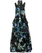 Erdem Embroidered Floor-Length Organza Gown - Lyst
