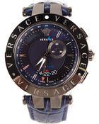Versace V Race Gmt Alarm Watch - Lyst