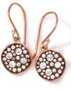 Ippolita 18K Rose Gold Stardust Flower Mini Diamond Drop Earrings - Lyst