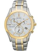 Citizen Women'S Eco-Drive Sport Chronograph Two Tone Stainless Steel Bracelet Watch 35Mm Fb1114-51A - A Macy'S Exclusive - Lyst