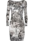 Carven Printed Stretch-Jersey Dress - Lyst