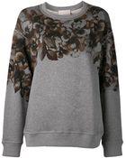 Jason Wu Floral Print Sweatshirt - Lyst