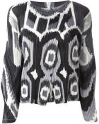 Pleats Please Issey Miyake Printed Pleated Jacket - Lyst